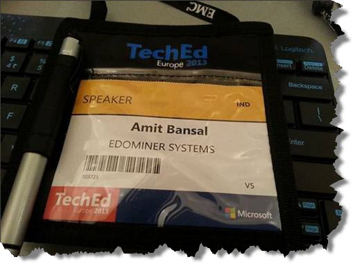 1_eDominer_CTO_speaks_at_TechEd_Europe_2013_Spain